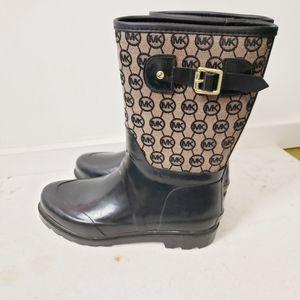 Michael Kors Rubber Rain Signature Boots